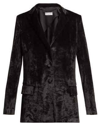 Sonia Rykiel Velvet Blazer - Womens - Black