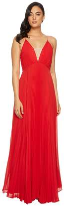 Jill Stuart Pleated Deep V Dress Women's Dress