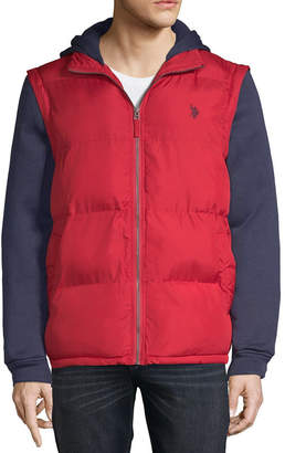 U.S. Polo Assn. Vest With Fleece Hood -Zip Off Sleeves