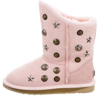 Australia Luxe Collective Girls' Suede Studded Boots