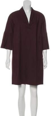 Fabiana Filippi V-Neck Long Sleeve Dress Red V-Neck Long Sleeve Dress