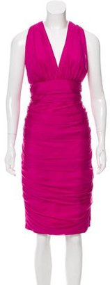 Carmen Marc Valvo Silk Midi Dress $125 thestylecure.com