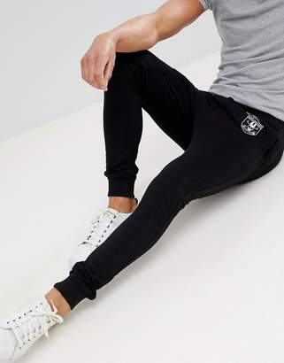 ONLY & SONS Badge Print Skinny Fit Joggers