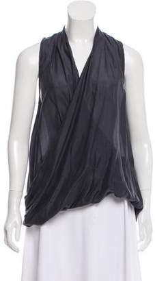 Calypso Silk Draped Blouse