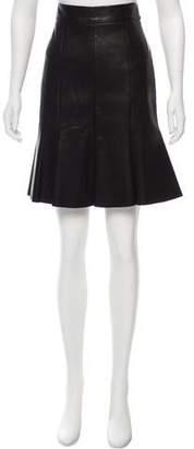 Cushnie et Ochs Leather Knee-Length Skirt w/ Tags