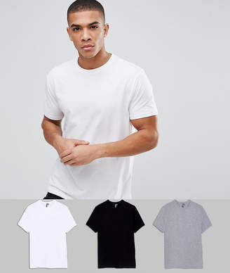 Asos Design DESIGN relaxed fit t-shirt with crew neck 3 pack SAVE