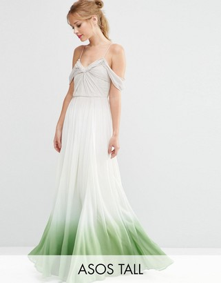 ASOS Tall ASOS TALL SALON Ombre Ruched Maxi Dress $194 thestylecure.com