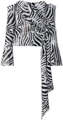 Halpern zebra print blouse