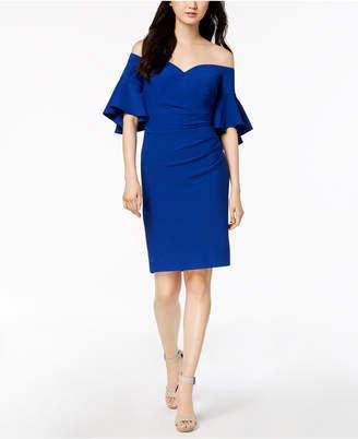 Calvin Klein Ruched Off-The-Shoulder Dress