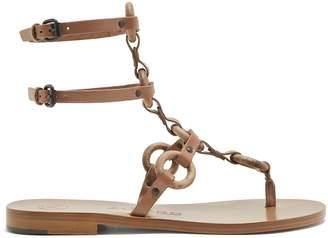 ÁLVARO Andorra T-bar leather sandals