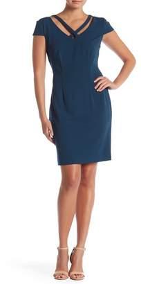 Connected Apparel Short Sleeve V-Neck Dress