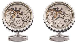 Tateossian 17 Jewel Skeleton Movement cufflinks
