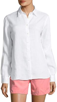 Vilebrequin Women's Fondant Linen Boyfriend Shirt