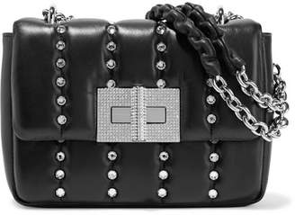 Tom Ford Natalia Small Crystal-embellished Quilted Leather Shoulder Bag - Black
