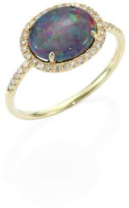 Meira T Diamond, Opal Triplet & 14K Yellow Gold Ring