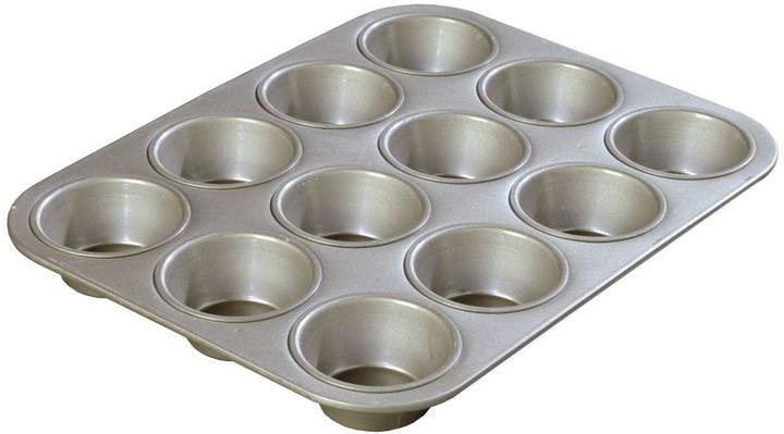 Carlisle Steeluminum 12-Cup Heavy Duty Muffin/Cupcake Pan, 3.50 oz./Cup (Case of 12)