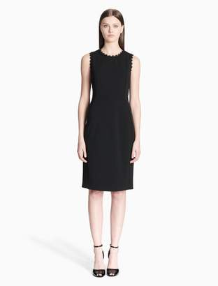 Calvin Klein lace trim sleeveless sheath dress