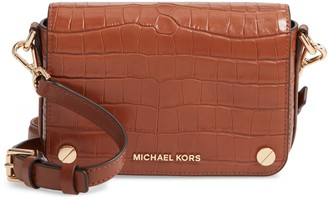 MICHAEL Michael Kors Small Jet Set Croc Embossed Leather Shoulder Bag