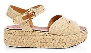 Clergerie Women's Aude Raffia Platform Sandals