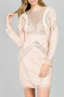 Minuet Embellished Cocktail Dress