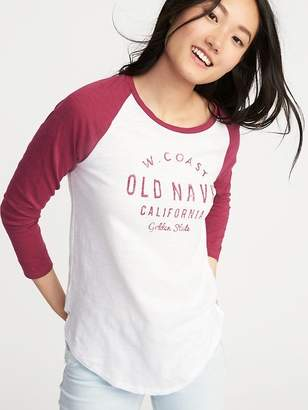 Old Navy Logo-Graphic Baseball-Style Tee for Women