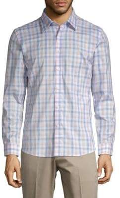 Hyden Yoo Plaid Slim-Fit Cotton Button-Down Shirt