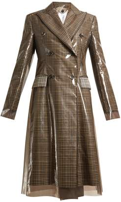 Calvin Klein Layered double-breasted checked coat