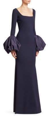 Chiara Boni Ary Puff Sleeve Column Gown