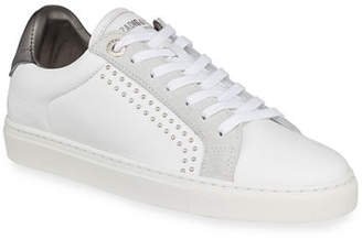 Zadig & Voltaire ZV1747 Studded Leather Low-Top Sneakers