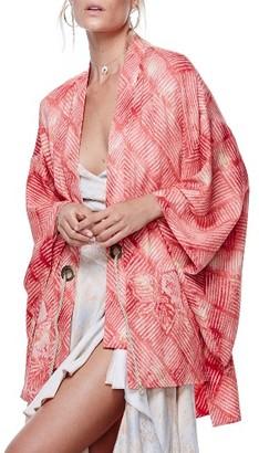 Women's Free People Shibori Print Kimono $198 thestylecure.com