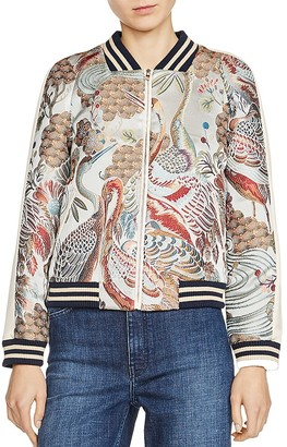 Maje Boyan Embroidered Bomber Jacket $480 thestylecure.com