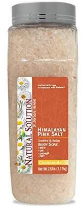 Himalayan Pink Salt Chamomile Body Soak & Bath Salt 2.5 pound Jar Ingredients with Pure Essential Oils.
