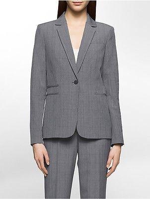Calvin KleinCalvin Klein Womens Glen Plaid Suit Jacket