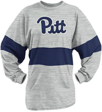 Pressbox Women's Pittsburgh Panthers Morehead Sweeper Long Sleeve T-Shirt