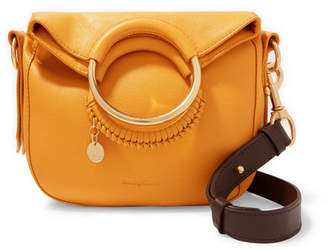 See by Chloe Monroe Small Textured-leather Tote - Mustard