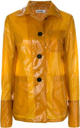 clear shirt-style raincoat