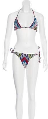 Mara Hoffman Beaded Geometric Swimsuit