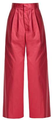 Raey Wide Leg Cotton Chino Trousers - Womens - Pink