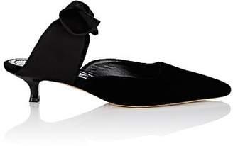 The Row Women's Coco Velvet Mules - Black, Black