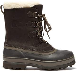 Sorel Caribou Faux Shearling Lined Snow Boots - Mens - Grey