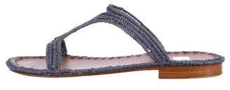 Carrie Forbes Woven Raffia Sandals