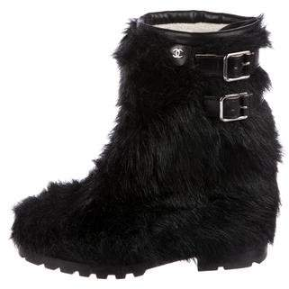 Chanel Faux Fur Mid-Calf Boots