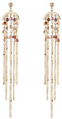 Black Diamond ACCESSORIES Stone Beaded Chain Fringe Earrings