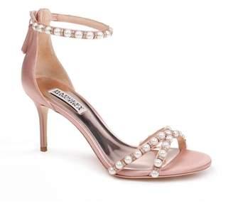 Badgley Mischka Hannah Embellished Ankle Strap Sandal