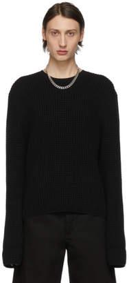 Bottega Veneta Black Waffle Knit Sweater