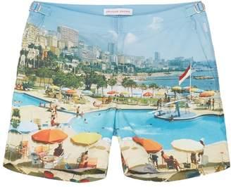 Orlebar Brown 'Bulldog Monte Carlo' beach print swim shorts