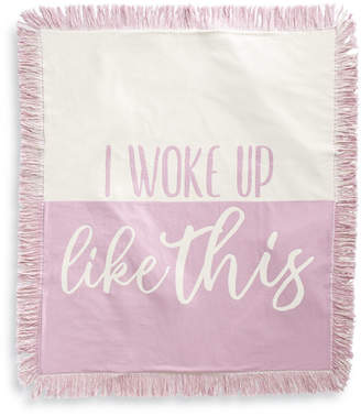 Martha Stewart Collection I Woke Up Like This Throw, Created for Macy's