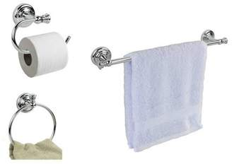 Home Basics Chrome Finish Wall Mounted Towel/Toilet Paper Racks