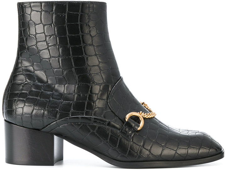 Stella McCartney artificial leather boots with chain detail