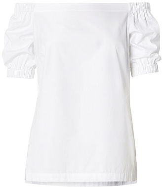 Ralph Lauren Cotton Off-the-Shoulder Top $79.50 thestylecure.com